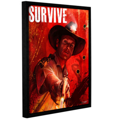 Brushstone Survive Gallery Wrapped Floater-FramedCanvas Wall Art