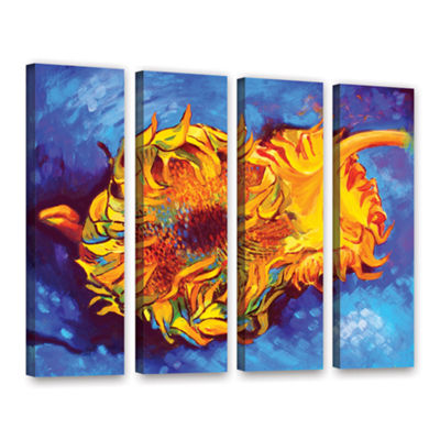 Brushstone Two Sunflowers 4-pc. Floater Framed Canvas Wall Art