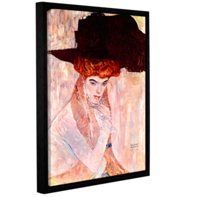 Brushstone The Black Feather Hat Gallery Wrapped Floater-Framed Canvas Wall Art