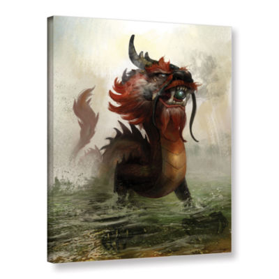 Brushstone Vietnamese Dragon Gallery Wrapped Canvas