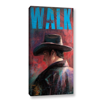 Brushstone Walk Gallery Wrapped Canvas