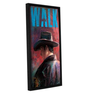 Brushstone Walk Gallery Wrapped Floater-Framed Canvas Wall Art