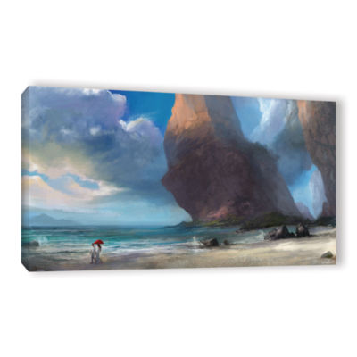 Brushstone Walk On The Beach Gallery Wrapped Canvas Wall Art