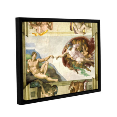 Brushstone The Creation Of Adam Gallery Wrapped Floater-Framed Canvas Wall Art