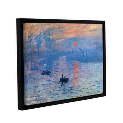 Brushstone Sunrise Gallery Wrapped Floater-FramedCanvas Wall Art