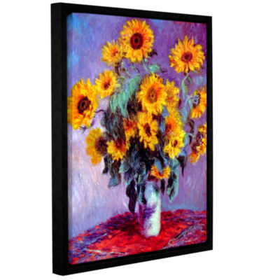 Brushstone Sunflowers (bouquet) Gallery Wrapped Floater-Framed Canvas Wall Art