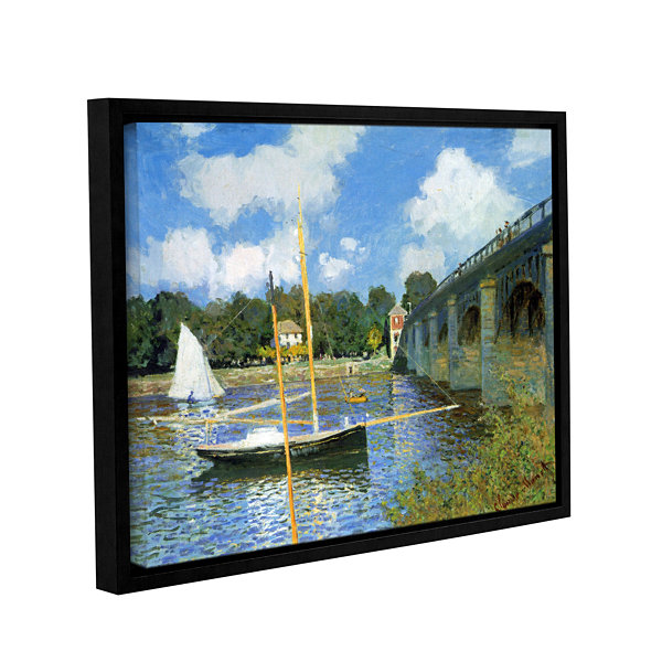 Brushstone The Bridge Of Argenteuil (Same As 1) Gallery Wrapped Floater-Framed Canvas Wall Art