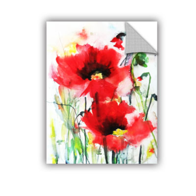 Brushstone Two Poppies Removable Wall Decal