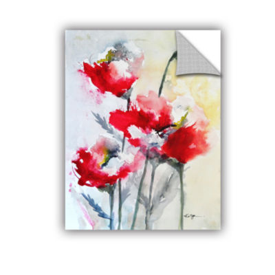 Brushstone Vibrant Poppies Removable Wall Decal