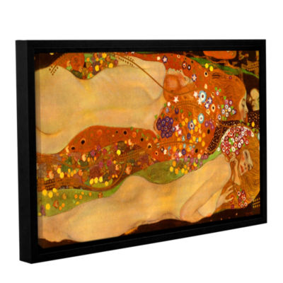 Brushstone Water Snakes Gallery Wrapped Floater-Framed Canvas