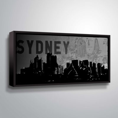 Brushstone Sydney Gallery Wrapped Floater-Framed Canvas Wall Art