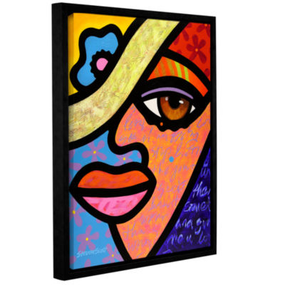 Brushstone Sweet City Woman Gallery Wrapped Floater-Framed Canvas Wall Art