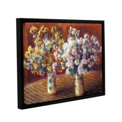 Brushstone Two Vases By Claude Monet Gallery Wrapped Floater-Framed Canvas Wall Art