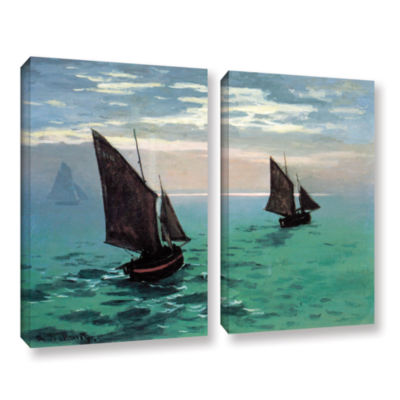 Brushstone Two Sailboats 2-pc. Gallery Wrapped Canvas Set
