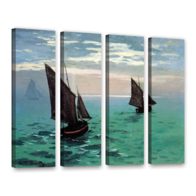 Brushstone Two Sailboats 4-pc. Gallery Wrapped Canvas Set