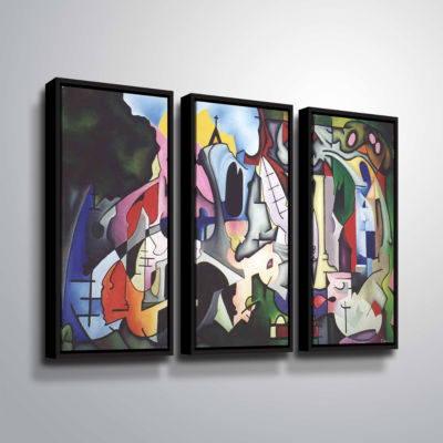 Brushstone Unified Theory 3-pc. Floater Framed Canvas Set