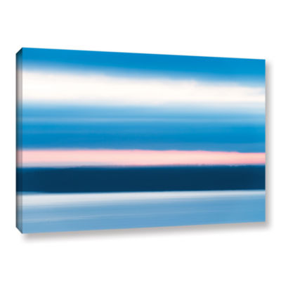 Brushstone Sunrise Blur Gallery Wrapped Canvas Wall Art