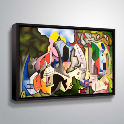 Brushstone Unified Theory Gallery Wrapped Floater-Framed Canvas
