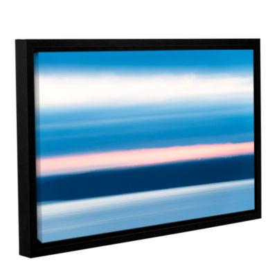 Brushstone Sunrise Blur Gallery Wrapped Floater-Framed Canvas Wall Art