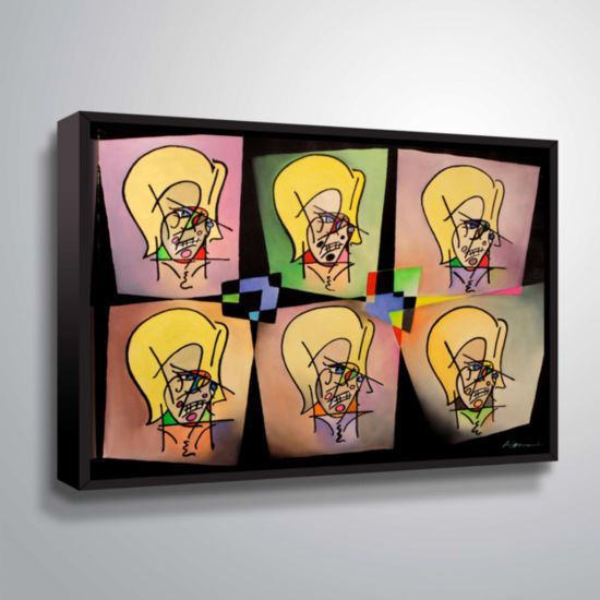 Brushstone Warhol And Picasso In Love With My MomGallery Wrapped Floater-Framed Canvas Wall Art