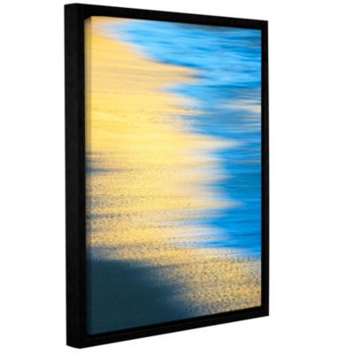 Brushstone Surf Sun Sand Gallery Wrapped Floater-Framed Canvas Wall Art
