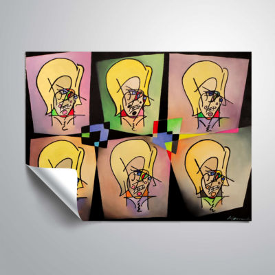 Brushstone Warhol and Picasso In Love With My MomRemovable Wall Decal