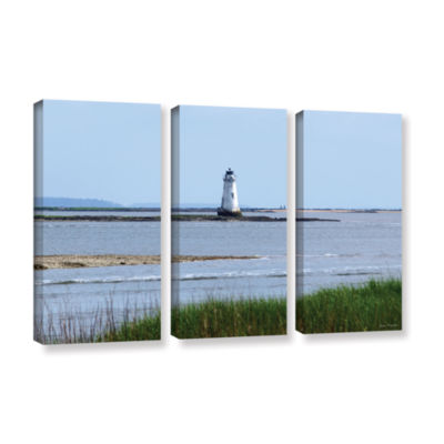 Brushstone Tybee Islands Unofficial Lighthouse 3-pc. Gallery Wrapped Canvas Set