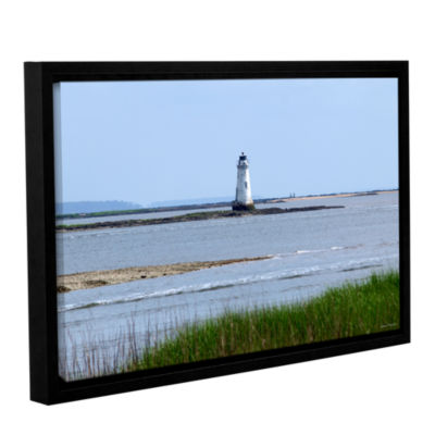 Brushstone Tybee Islands Unofficial Lighthouse Gallery Wrapped Floater-Framed Canvas Wall Art