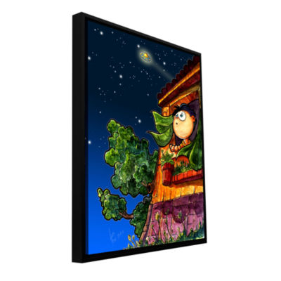 Brushstone UFO Kid 1 Gallery Wrapped Floater-Framed Canvas