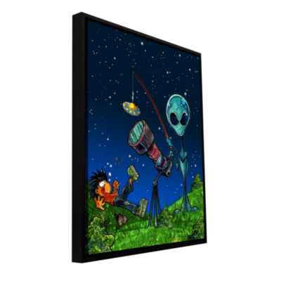 Brushstone Ufo Kid 3 Gallery Wrapped Floater-Framed Canvas Wall Art
