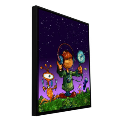 Brushstone Ufo Kid 4 Gallery Wrapped Floater-Framed Canvas Wall Art