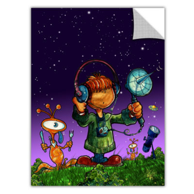 Brushstone Ufo Kid 4 Removable Wall Decal