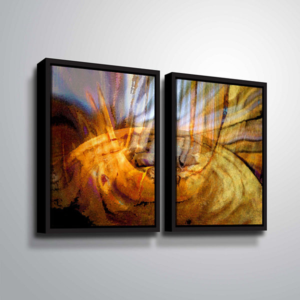 Brushstone Tempest Vortex 2-pc. Floater Framed Canvas Wall Art
