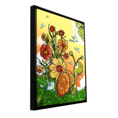 Brushstone Under The Shell Gallery Wrapped Floater-Framed Canvas Wall Art