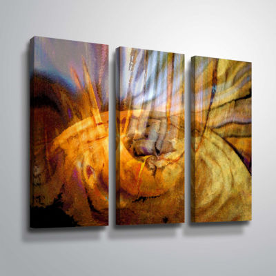 Brushstone Tempest Vortex 3-pc. Gallery Wrapped Canvas Wall Art