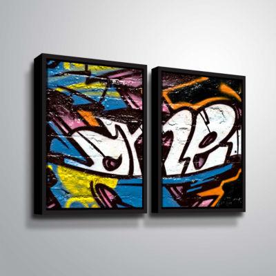 Brushstone Wall 12 Sharp 2-pc. Floater Framed Canvas Set