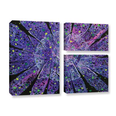Brushstone Violet Noir 3-pc. Gallery Wrapped Canvas Flag Set
