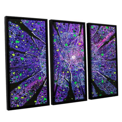 Brushstone Violet Noir 3-pc. Floater Framed CanvasWall Art