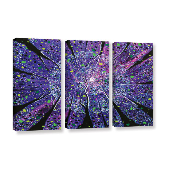 Brushstone Violet Noir 3-pc. Gallery Wrapped Canvas Wall Art