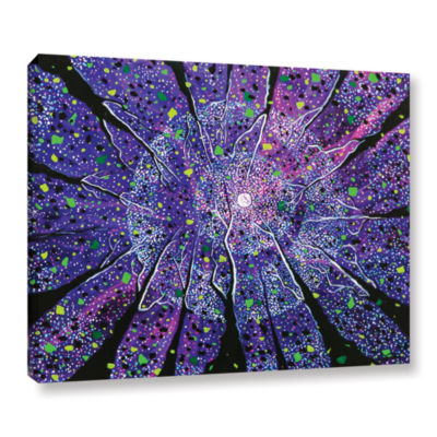 Brushstone Violet Noir Gallery Wrapped Canvas