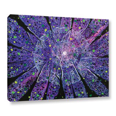 Brushstone Violet Noir Gallery Wrapped Canvas WallArt