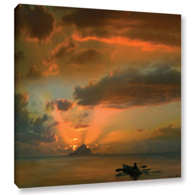 Brushstone Sunset On The Water Gallery Wrapped Canvas Wall Art