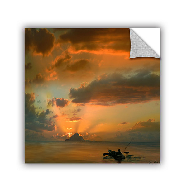 Brushstone Sunset On The Water Removable Wall Decal