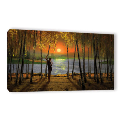Brushstone Sunset Emotions Gallery Wrapped CanvasWall Art