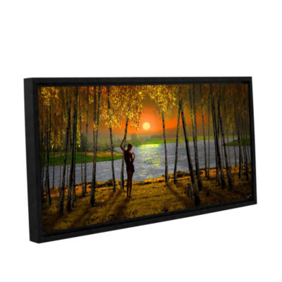 Brushstone Sunset Emotions Gallery Wrapped Floater-Framed Canvas Wall Art