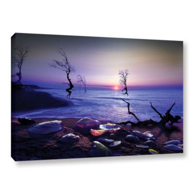 Brushstone Sunset Run Gallery Wrapped Canvas WallArt