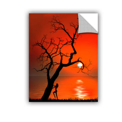Brushstone Sunset Silhouettes Removable Wall Decal