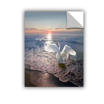 Brushstone Swan Sunset Removable Wall Decal