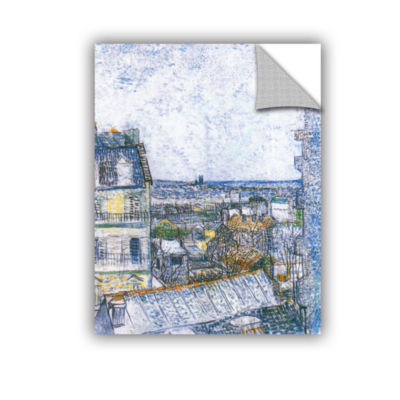 Brushstone Wall Paris From Vincent's Room Removable Wall Decal