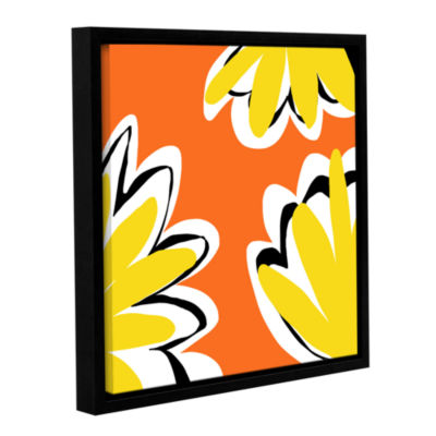 Brushstone Warmth Gallery Wrapped Floater-Framed Canvas
